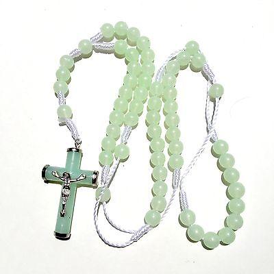 Rosary - Glow in the Dark green  Prayer Beads - Rosary Crucifix Necklace](Glow In The Dark Green)