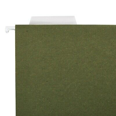 Green Letter Size Hanging File Folders Tabs And Insert Cards 25 Count