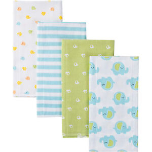 Gerber-Flannel-Burp-Cloths-4-Pack