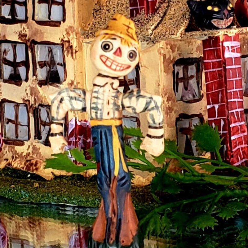 "Vintage Poliwoggs ""STU"" Scarecrow 2.25"" Miniature HALLOWEEN Primitive *NOS"