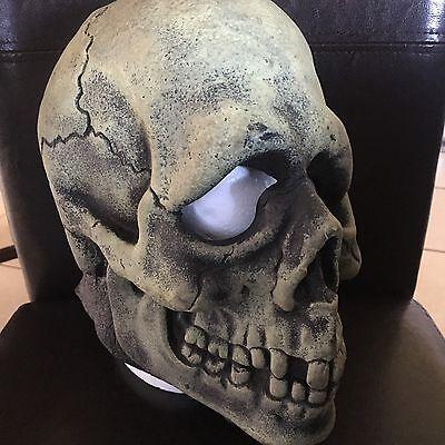 Vintage 1967 Don Post Skull Mask Don Post Studio's Inc Glow In The Dark