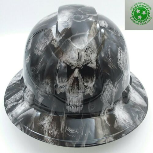 FULL BRIM Hard Hat custom hydro dipped , NEW 3D BONE HEAD SKULLS HOT NEW