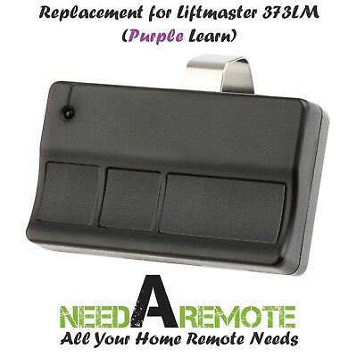 For Sears Craftsman 139.53753 3 button Garage Door Opener Remote 315mhz Purple