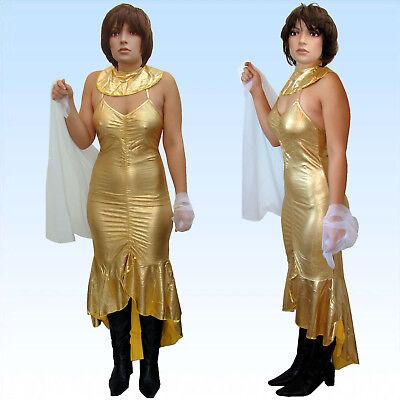 Kostüm Ägyptische Königin Gr. XS/S  Nofretete Aphrodite Kleid Antike (Gold Ägyptischen Kleid)
