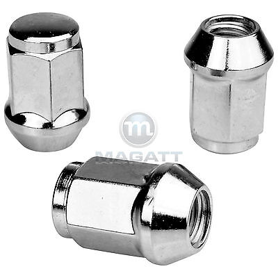 20 Chrome Wheel Nuts for Aluminium Rims Alfa Romeo 75 (6 CYL 162B 90(6 CYL 162