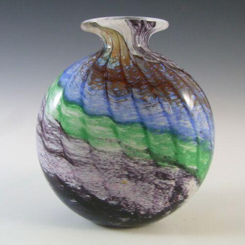 SIGNED & LABELLED Phoenician Vintage Multicoloured Glass Vase