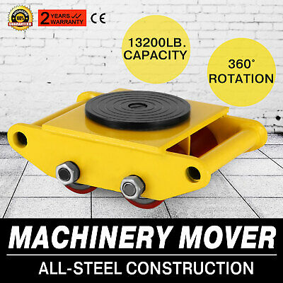 Us 3x3 Heavy Duty Machine Dolly Skate Machinery Roller Mover Cargo Trolley 6 Ton