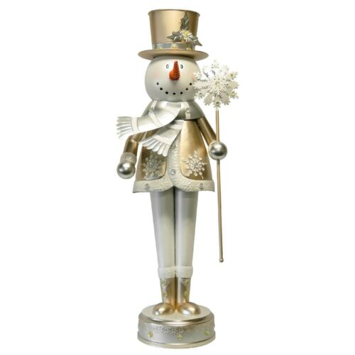 52 inch Illuminated Metal Snowman Indoor/Outdoor Oversized Decor Statue