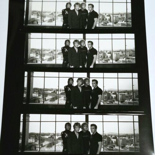 "BON JOVI 8.5x11"" BLACK & WHITE CONTACT SHEET PHOTO BW ROCK RICHIE SAMBORA BAND"