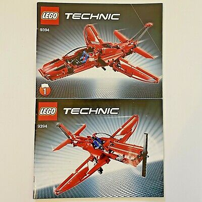 LEGO 9394 TECHNIC Red Jet Plane INSTRUCTION BOOKLET MANUAL ONLY No Bricks or Box
