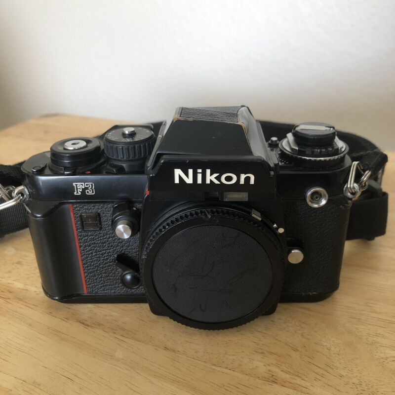 Nikon F3 Eye Level 35mm SLR Film Camera Body (Good / tested - READ)