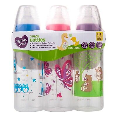 Parent's Choice Baby Bottles Designed to Reduce Air Intake 9 fl oz - 3 Count