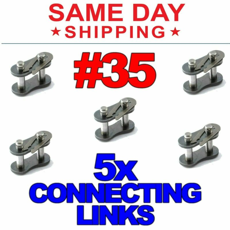 #35 Roller Chain Connecting Links (Lot of 5)