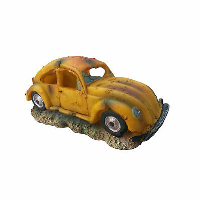 Yellow VW Beetle Volkswagen Bug Aquarium Fish Tank Ornament