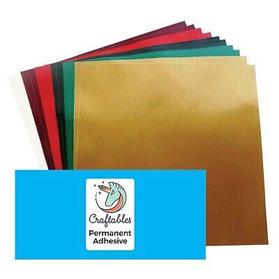 Christmas Pack Permanent Adhesive Vinyl   (12) Sheets - Christmas Vinyl Pack