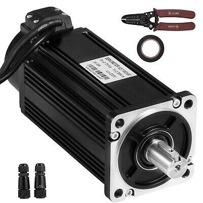 Servo Motor 750w 2.4nm Ac Servo Cable Kit 220v F Cnc Mill Machine Vevor