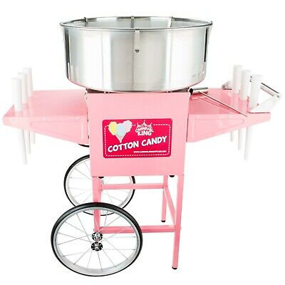 Carnival King Cotton Candy Machine With 21 Ss Bowl Cart 110 V 1050 W