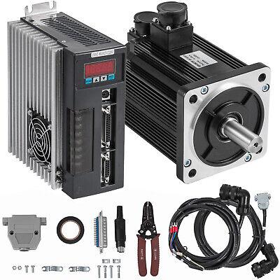 2.3kw Ac Servo Motor Servo Driver Kit 15nm Cable Cnc Mill