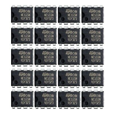 20 Pcs Ne555 Ic 555 Timer Texas Instruments Brand New. Usa Seller
