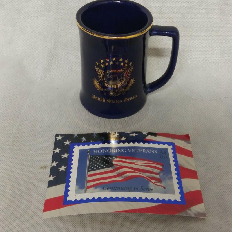 United States Senate Chuck Hagel Coffee Mug Cup With Autographed Card