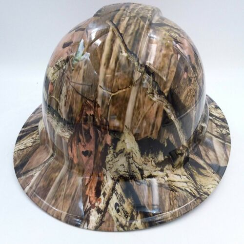 Hard Hat FULL BRIM custom hydro dipped , OSHA approved BREAK UP INFINITY CAMO 3