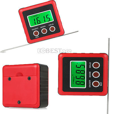 Digital Bevel Box Gauge Angle Protractor Finder Inclinometer Magnetic Base uk