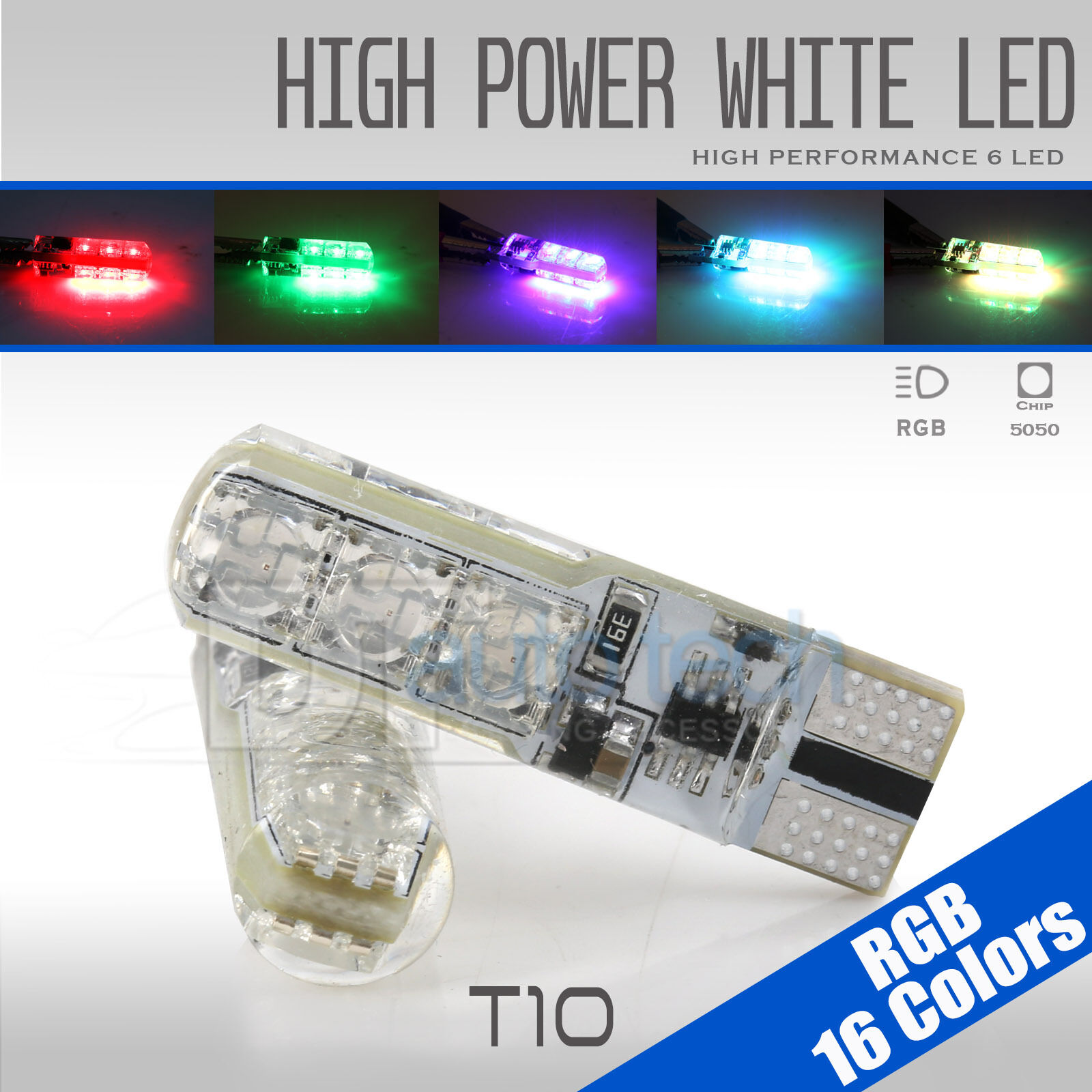 2x T10 921 High Power Rgb Led Multi Color Parking Interior Light To The Dome And Comes On Bulbs Remote