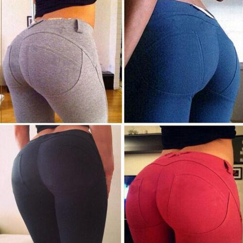 Women High Waisted Slim Skinny Leggings Stretchy Pants Jeggings Pencil Pants US