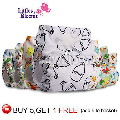 Reusable Baby Washable Cloth Nappy Cover STANDARD Hook-Loop Pocket Diaper 0-3yrs