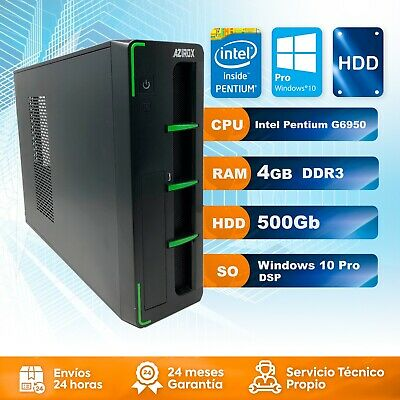 Ordenador PC Sobremesa Intel Pentium G6950 4GB DDR3 500GB HDD Windows 10 Pro