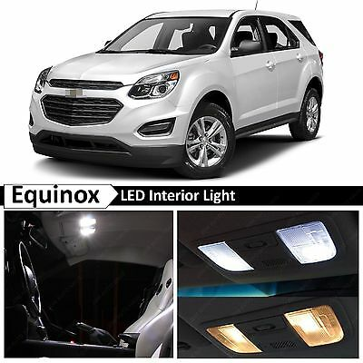 13x White LED Lights Interior Package Kit for 2010-2016 Chevy Equinox