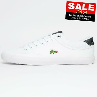 Lacoste Angha 219 Men's Classic Casual Designer Plimsol Trainers White