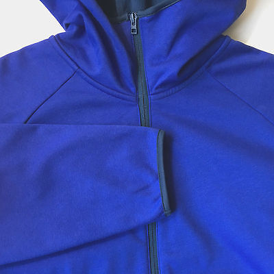 Uniqlo Mens Zip Hoodie Fleece Sweatshirt Jacket Coat Blue Size XL