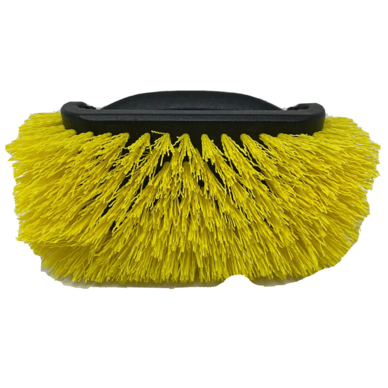 Unger Black Yellow Lock On Thread System 4 Sided Cleaning Handheld Scrub Brush