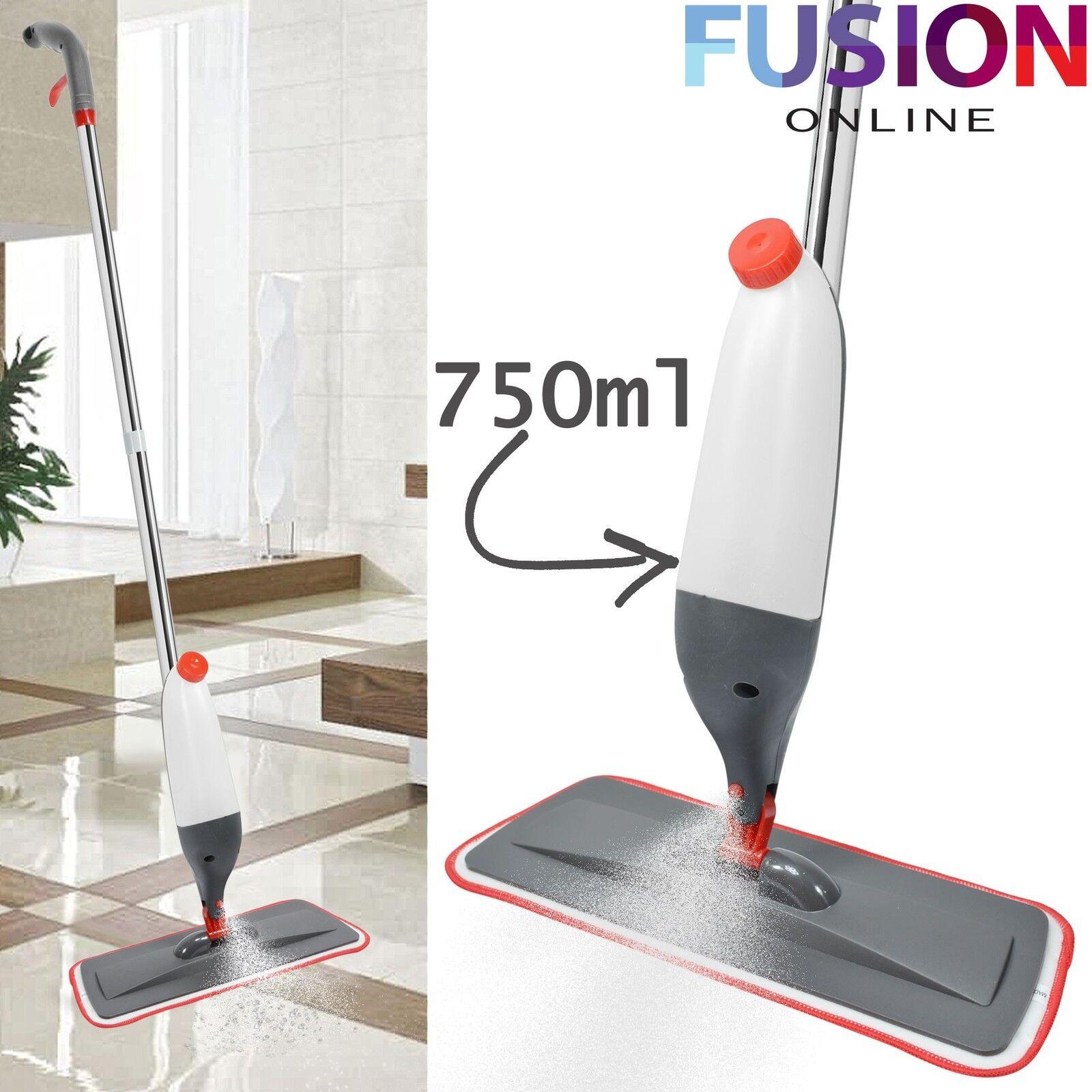 750ML SPRAY MOP WATER SPRAYING FLOOR CLEANER TILES MICROFIBRE MARBLE ...