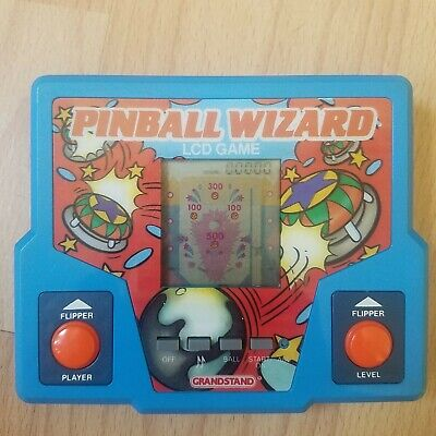 Pinball Wizard Grandstand 1987 Tiger Electronics LCD LCI Game Tested Working