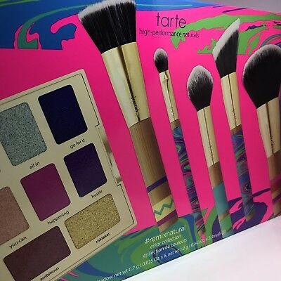 Tarte Remix Natural Set Peace Love Paint Brushes w/ Remix Natural Palette (Painted Palette)