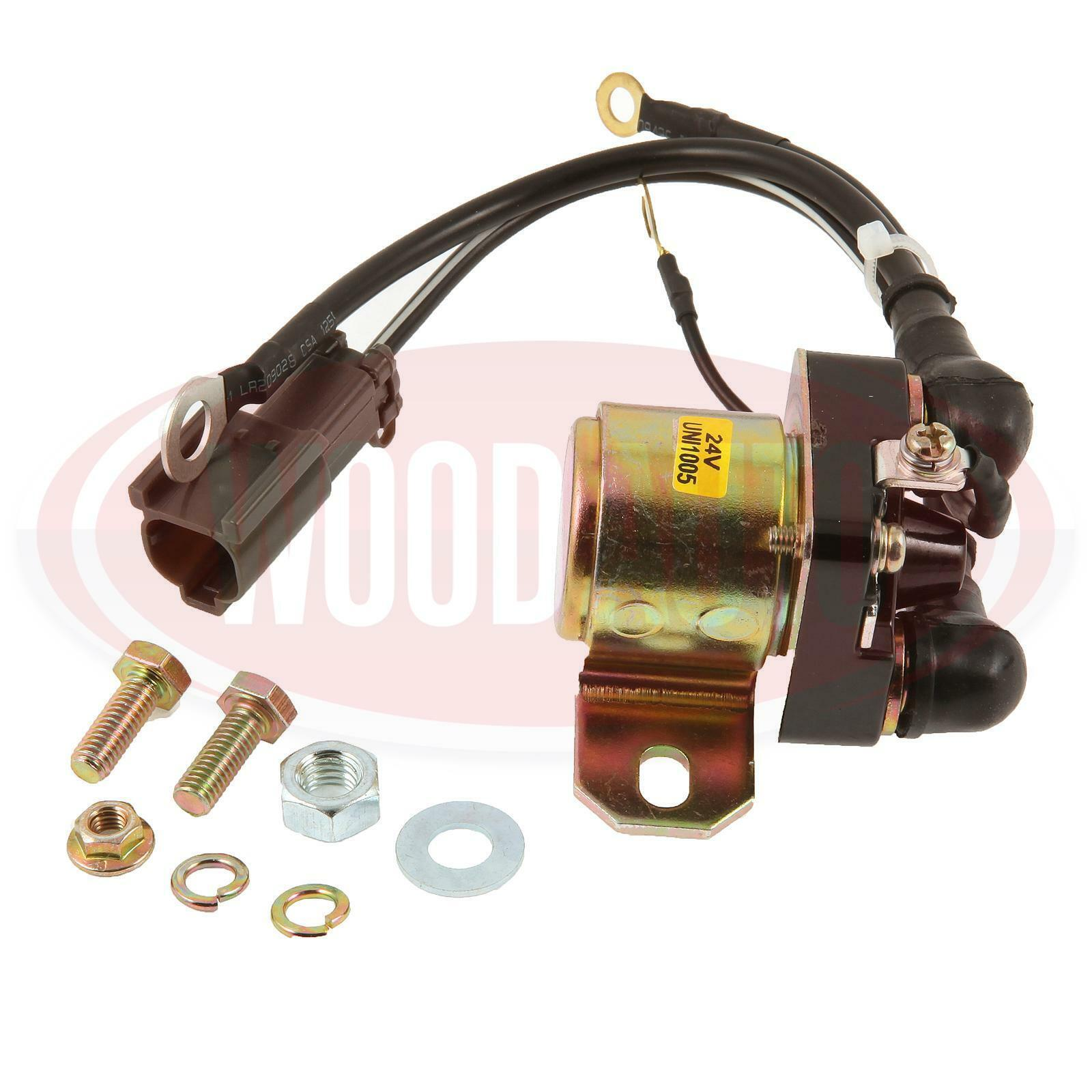 Details about STARTER SOLENOID RELAY SAFETY SWITCH MITSUBISHI 24V 4  TERMINAL WOOD AUTO EC43438