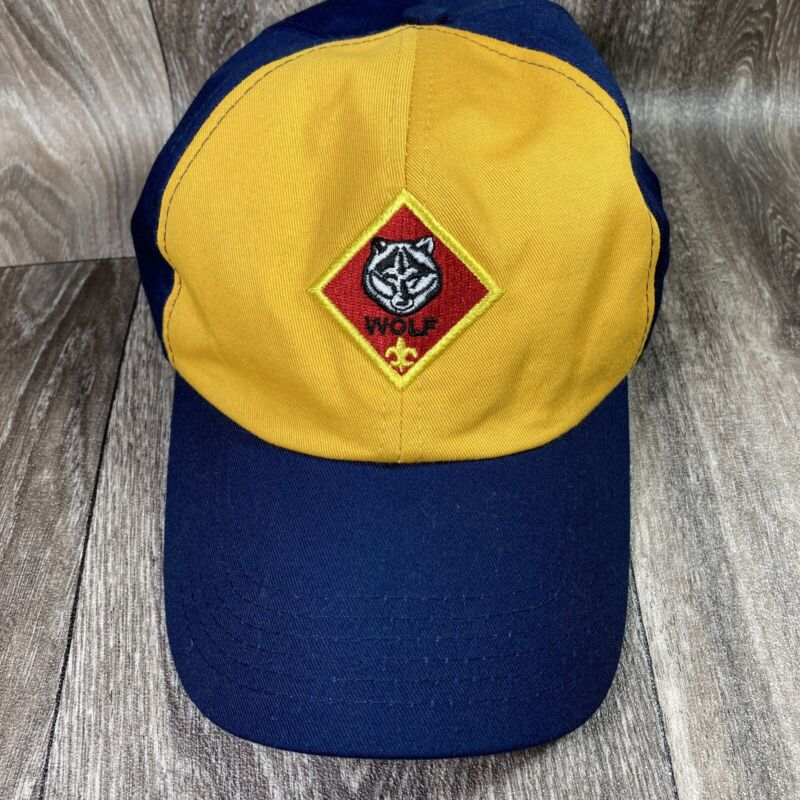 Boy Scouts of America Cub Scout Wolf Hat Cap Adjustable Strap Youth M/L