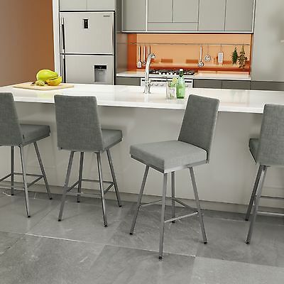 Amisco Linea Swivel Upholstered Counter or Bar Stool - 41320 Amisco Kitchen Bar Stools