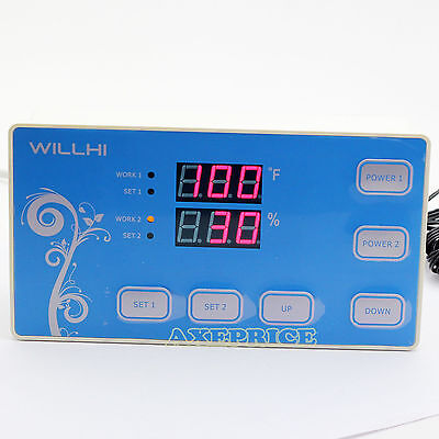 110v Digital Fahrenheit Temperature Humidity Controller Thermostat Sensor Relay