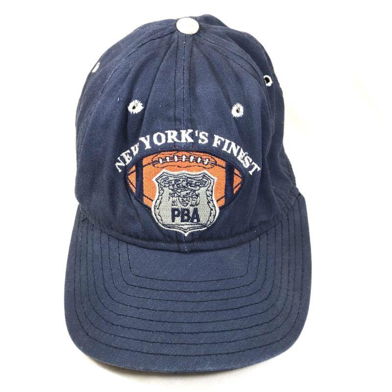 Police Patrolmen's Benevolent Association Football New York Finest Hat Cap Rare