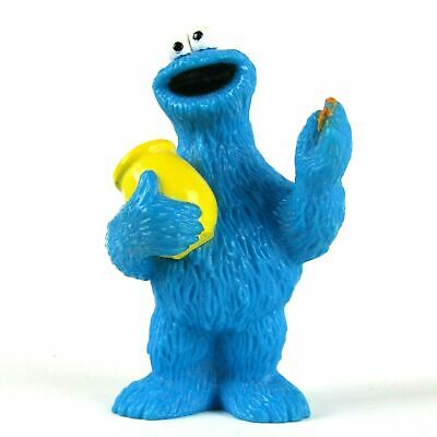 "SESAME STREET COOKIE MONSTER WITH COOKIE JAR - CAKE TOPPER 3"" TYCO COLLECTOR TOY"