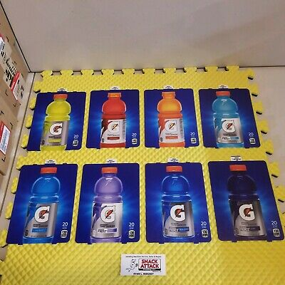 Dixie Narco 276hvv 501e Soda Vending Machine Gatorade Bottle Vend Label Set