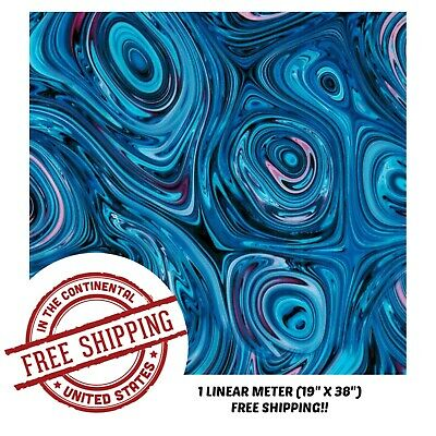 Hydrographic Film Water Transfer Hydro Dipping Dip Film 1m Blue Paint Slick