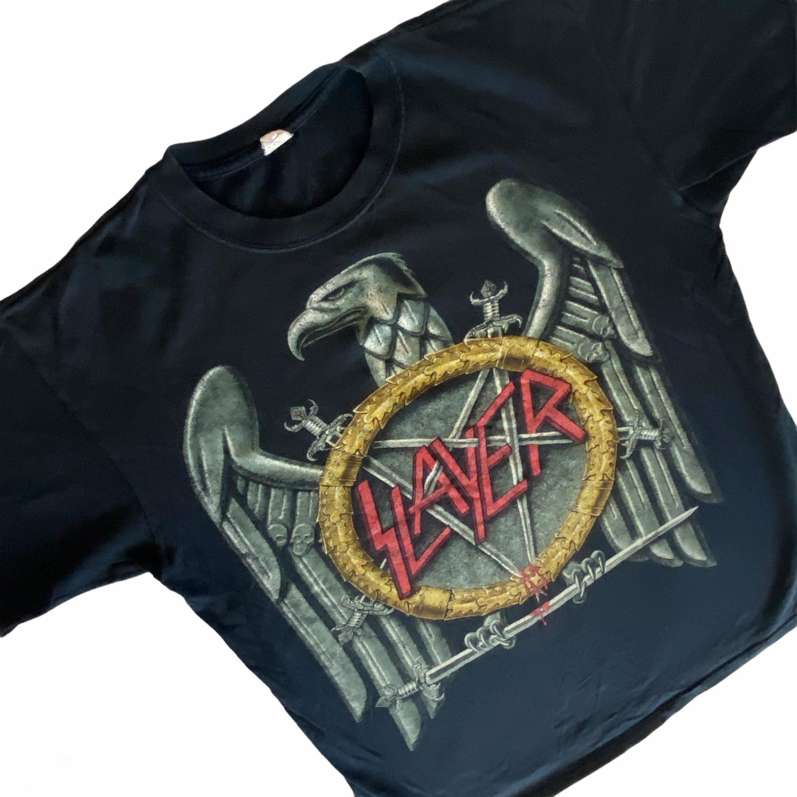 Slayer Psychopathy Tour 2009 Heavy Metal Concert T-Shirt Black Large Rock Band  - $26.99