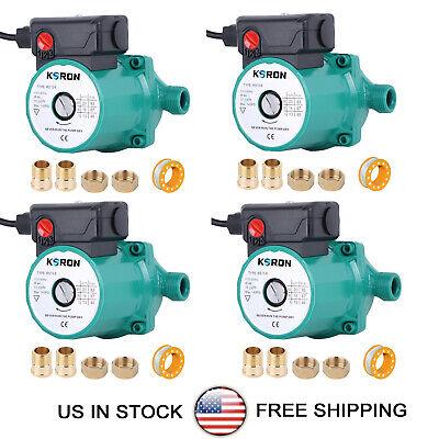 Pack Of 4 Hot Water Circulation Pump 110v Circulatingcirculator Pump Npt34