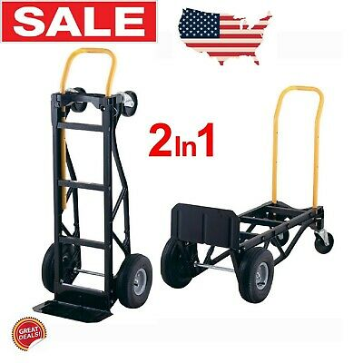 Dolly Heavy Duty Two Wheel Moving Push Cart Hand Truck 700lb Best Convertible 10