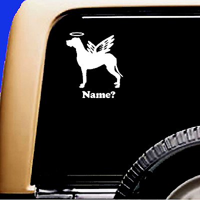 Dog Memorial Great Dane Natural Ears Angel Vinyl Decal Sticker - CA$6.00