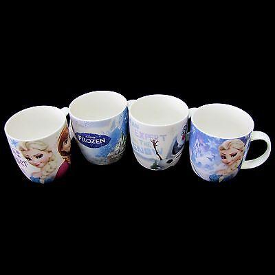 Disney Frozen Ceramic Coffee Tea Mug Cup 4pcs Set 10.5oz Made in Korea